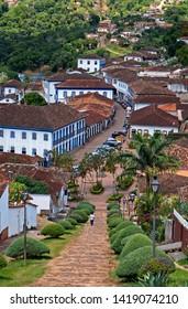 Panoramic view of Serro, historical city in Minas Gerais, Brazil