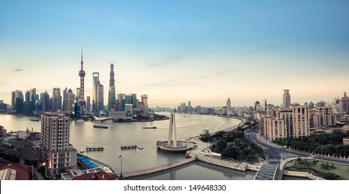 panoramic view of shanghai,China.