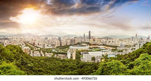 Panoramic view of Shenzhen, China