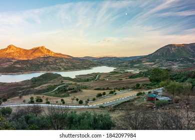 A panoramic view of the Sierra de Grazalema Natural Park in the province of Cádiz.