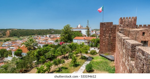 Panoramic view from Silves Castle walls, Algarve, Portugal, July-08-2016