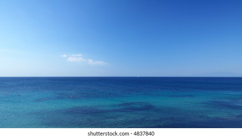 panoramic view of the sky and sea