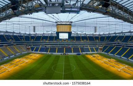 Panoramic view of the soccer stadium Commerzbank Arena of Frankfurt