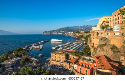 Panoramic view of Sorrento, the Amalfi Coast, Italy