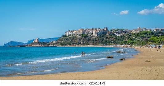 Panoramic view of Sperlonga, Latina Province, Lazio, central Italy.
