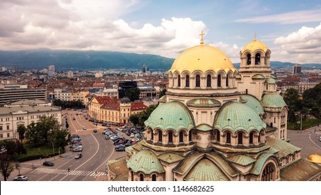 Panoramic View of the St. Alexander Nevsky Cathedral, Sofia, Bulgaria
