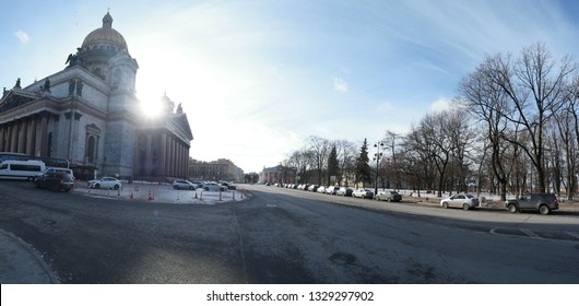 Panoramic view of st Isaac's cathedral