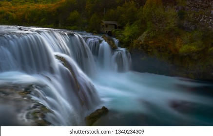 Panoramic view of Strbacki Buk waterfall, Bosnia-Herzegovina