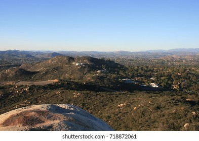 Panoramic view of suburbs from a hill top, California