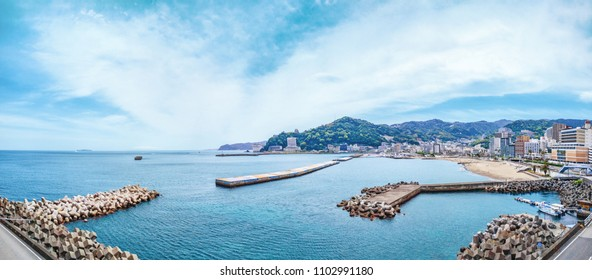 Panoramic view of Sun Beach - Atami city, Shizuoka prefecture, Japan