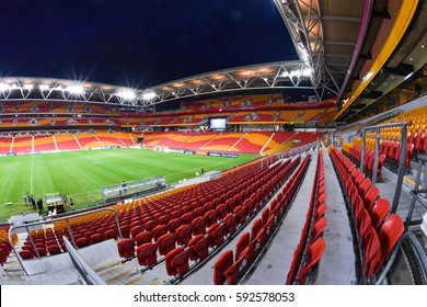 Panoramic view of Suncorp Stadium during the AFC Champions League between Brisbane Roar and Muangthong United at Suncorp Stadium on February 21, 2017 in Australia.