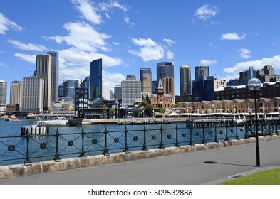 Panoramic view of Sydney skyline in New South Wales, Australia.