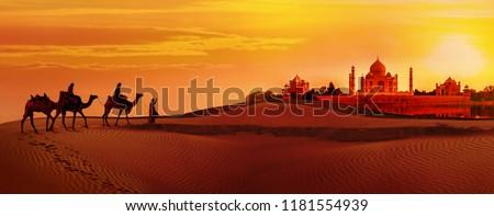 Panoramic view of Taj