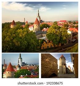 Panoramic view of Tallinn. Capital of Estonia