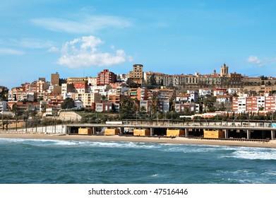 a panoramic view of Tarragona, in Spain