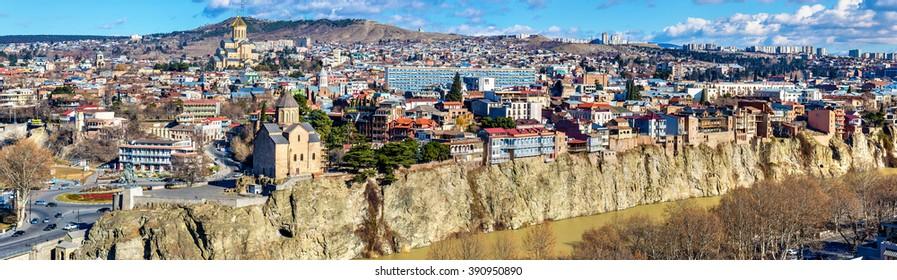 Panoramic view of Tbilisi, the capital of Georgia