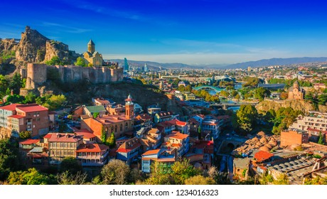 Panoramic view of Tbilisi, Georgia.