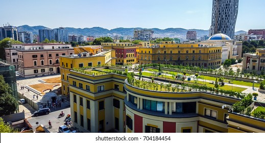 Panoramic view of Tirana, Albania