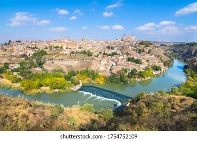 Panoramic view of Toledo city from Mirador del Valle viewpoint - Toledo, Spain