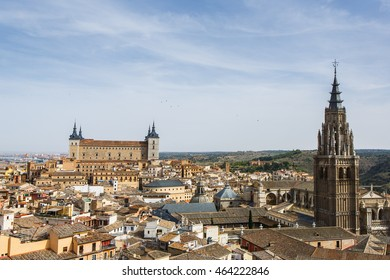 Panoramic view of Toledo old town, Spain