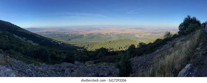 Panoramic view from the top of Montcayo in Tarazona, Zaragoza, Spain