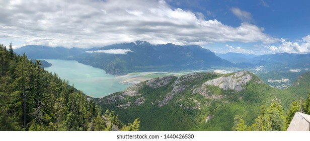 Panoramic view from the top of a mountain