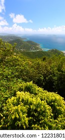 Panoramic view of Tortola from Sage Mountain National Park British Virgin Islands