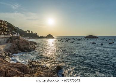Panoramic view of Tossa de Mar, Spain