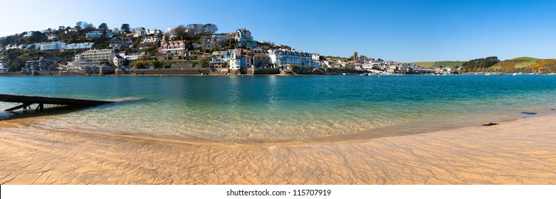 Panoramic view towards Salcombe from East Portlemouth Devon England UK