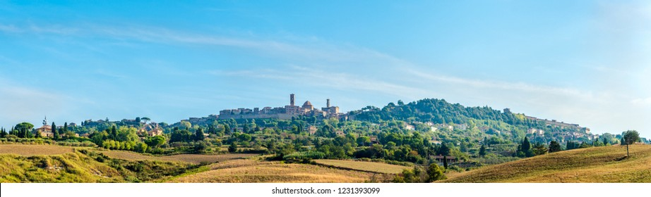 Panoramic view at the Town of Volterra in Tuscany, Italy