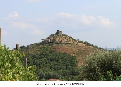 Panoramic view of  Tuscany countryside ( Lucca Italy )