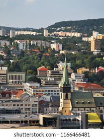 Panoramic view of Usti nad Labem. Czech Republic