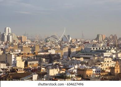 Panoramic view of Valencia, Spain.