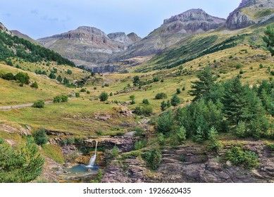 Panoramic view of the Igüer Valley, Huesca. Spain