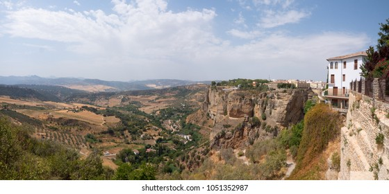 Panoramic view of the valley near the Ronda town, Spain.