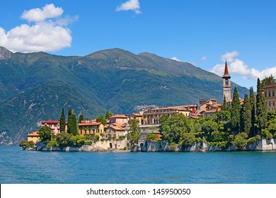 Panoramic view of Varenna town (Como lake, Italy)