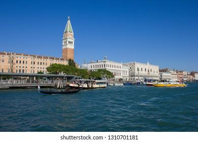 Panoramic view of Venice Canal Grand, Venezia, Italy 10/10/2018
