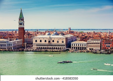 Panoramic view of Venice  Italy