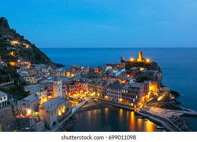 Panoramic view of Vernazza - italy, cinque terre