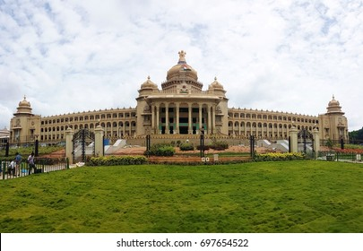 Panoramic view of Vidhana Soudha the Bangalore State Legislature Building, Bangalore, India