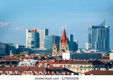Panoramic view from Vienna, Austria