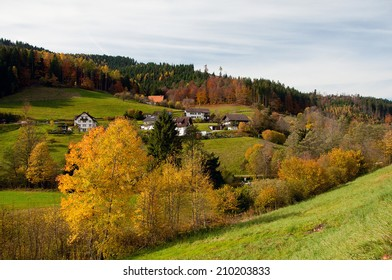 Panoramic view of the village in the black forest