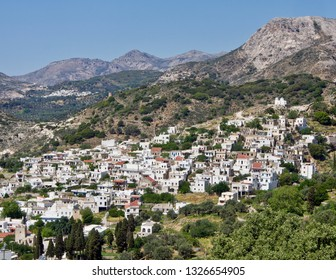A Panoramic View of a Village in the Greek Islands