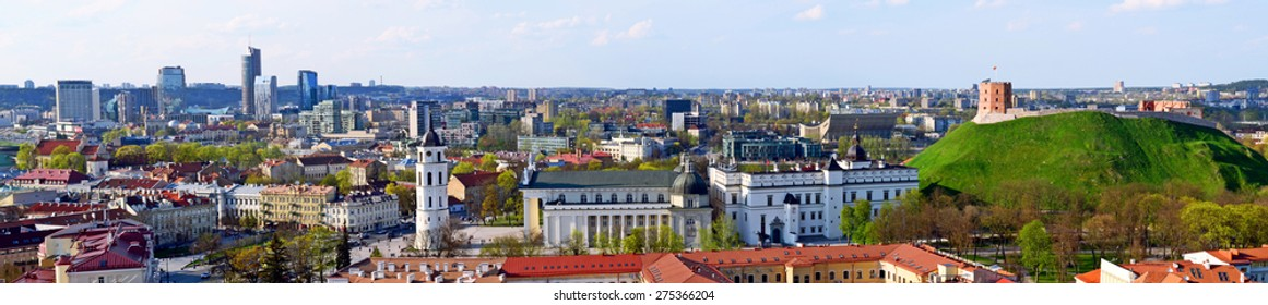 Panoramic view at Vilnius from Vilnius University bell tower. Taken on 2015/04/27