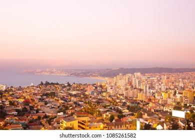 Panoramic view of Vina del Mar, V Region of Valparaiso, Chile