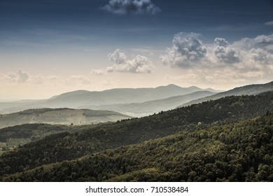 Panoramic view of the Vosges Mountains