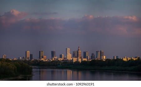 Panoramic view of Warsaw, the capital city of Poland.