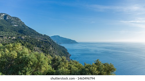 Panoramic view of the West coast of Mallorca, Spain