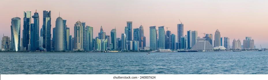 Panoramic view of westbay, Doha