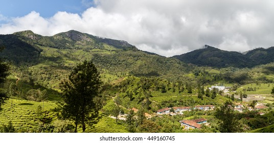 Panoramic view of the Western Ghats from Munnar Valley, Kerala, India